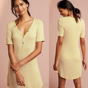ANTHROPOLOGIE Ribbed Henley Dress size XS